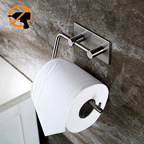Charmant Kitlit Edelstahl Toilettenpapierhalter Klopapierhalter Selbstklebend Ohne  Bohren WC Bad Rollenhalter