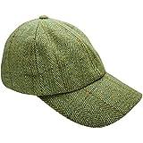 Nouvelle casquette de baseball en tweed pour homme Country laine de chapeau de pêche avec revêtement en téflon -  Vert - Taille unique