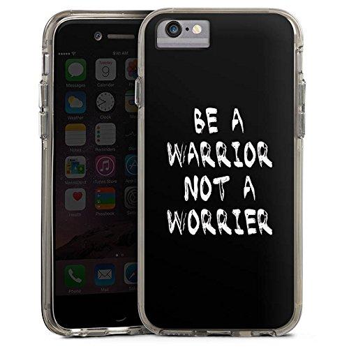 Apple iPhone 6s Plus Bumper Hülle Bumper Case Glitzer Hülle Motivation Fitness Workout Bumper Case transparent grau