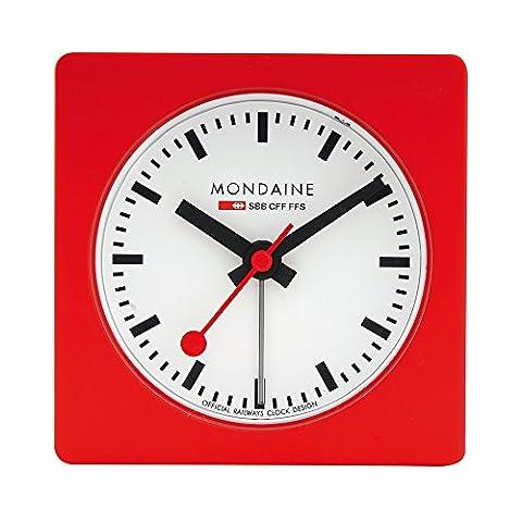 Mondaine A996ALIG30SBB Cube Alarm Clock Analogue Alarm