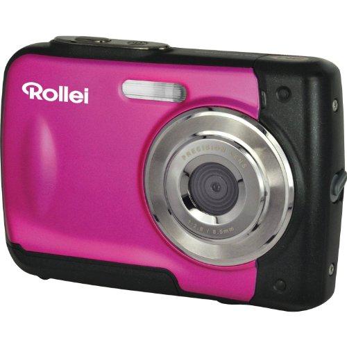 Rollei Sportsline 60 - vielseitige Digitalkamera mit 5 MP, 8-fach digitalem Zoom, 6 cm Display (2,4 Zoll), bildstabilisiert, spritzwasserfest und wasserdicht bis 3m - Pink