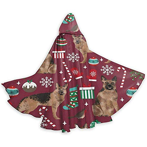 German Shepherds Dogs Adult Tunika Hooded Knight Halloween Mantel Robe Kostüm Weihnachten, 59Inch (Shepherd Adult Kostüm)