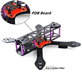 DroneAcc Quadcopter Frame Kit 220 with PDB,Strong and Light Weight X Design Drone Frame with 4MM Arm,Martain II RX220 Carbon Fiber FPV Racing Quad Frame
