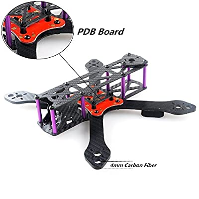 Martian II RX220 FPV Racing Drone Carbon Fiber Quadcopter Frame like QAV210 etc (4MM) by DroneACC