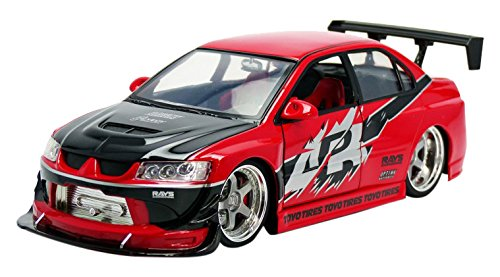 Jada Toys – 97179r – Mitsubishi Lancer Evo 8 – Fast and Furious – 1/18 – Rot