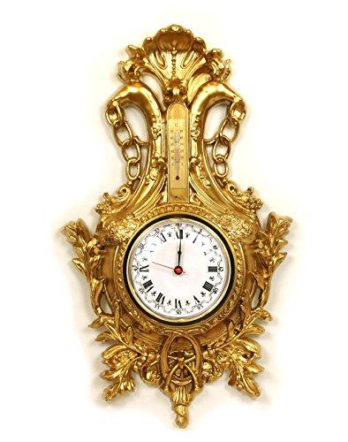 Horloge Doré mural style baroque meubles imitation or Vintage Louis XVI