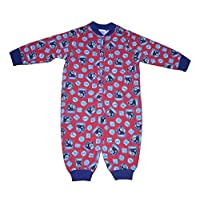 M & o clothing Boys Onesie Pyjamas Thomas The Tank Engine Red & Navy Trim