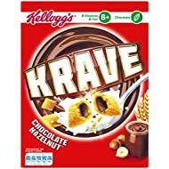 Krave Hazelnut Chocolate Cereal Shells 375 g, Pack of 6