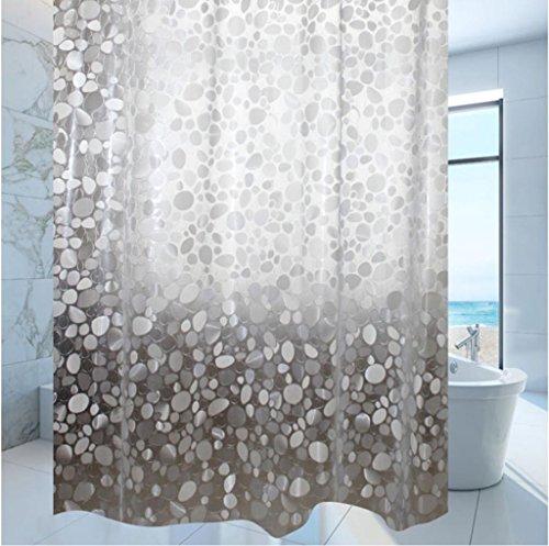 GYMNLJY Tenda doccia PEVA idrorepellente antibatterico bagno decorazione Blackout tagliato di appendere la tenda all'ombra di doccia vasca per bagno , wide 180* high 200