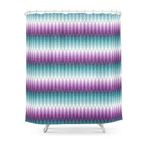Suminla-Home Badezimmer Ombre Chevrons–Pflaume und Blaugrün Duschvorhang 182,9cm von 182,9cm (Duschvorhang Teal Ombre)