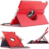 ebestStar - pour Apple iPad Mini 1, Mini 2, Mini 3 - Housse Coque Etui PU cuir Support rotatif 360° + Film, Couleur Rouge [Dimensions PRECISES de votre appareil : 200 x 134.7 x 7.2/7.5 mm, écran 7.9'']