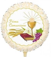 Idea Regalo - PALLONCINO MYLAR PRIMA COMUNIONE CALICE BIBBIA