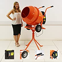 140L Portable Electric Cement Mixer with Stand
