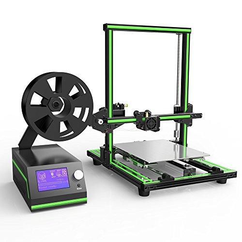 MZEDE High Performance ANET E10 Destop 3D Printer, Pre-Assembled, Desktop 3D Printer, Print PLA, ABS Filament, Aluminium Alloy Material, Super Stable Structure,Beginner 3D Printer