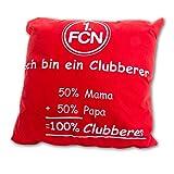Nürnberg Kissen Cluberer, 50%Mama + 50% Papa = 100% Cluberer, 40/40 Kissen , 1.FCN