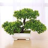Bonsai - Pianta artificiale in legno di pino per uffici, davanzali, cortili