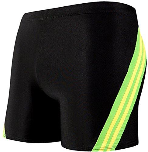 EKU Men's Square Cut Boxer Swimsuit Shorts