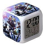 7 Colores LED Fortnite Digital Despertador LCD Muestra Hora, Fecha, Temperatura Mejor Regalo para Los Niños Cumpleaños Navidad o Amantes de los Juegos (8)