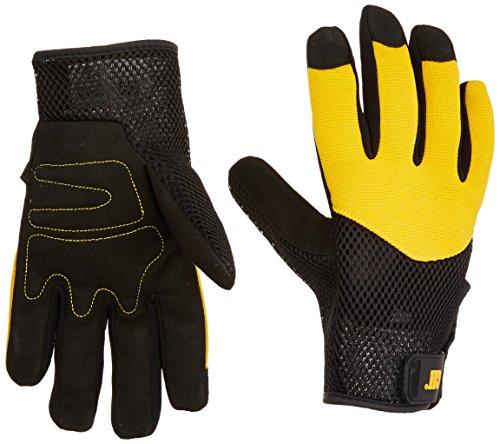 CAT Workwear Mens Workwear 12215 Padded Palm Heavy Duty Spandex Gloves Black/Yellow