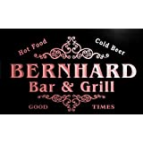 u03416-r BERNHARD Family Name Bar & Grill Cold Beer Neon Light Sign Barlicht Neonlicht Lichtwerbung