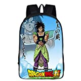 Unisex Schulrucksack Karikatur Dragon Ball Goku Kinder Lässiger Daypack Laptop-Büchertasche Draussen Aktivitäten Wandertasche,3