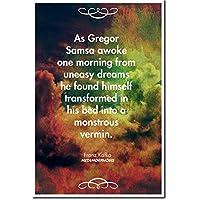 Franz Kafka Kunstdruck - Metamorphosis - (Poster mit Zitat) Hochglanz Foto Geschenkartikel - Maße: 91 x 61 cm
