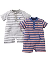 Carter's Baby Boys' 2 Piece Interlock Bodysuit Set (Baby) - Sail Boat - Newborn Color: Sail Boat Size: Newborn (Baby/Babe/Infant - Little ones)