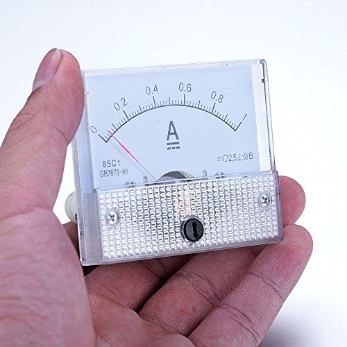 atoplee DC 0–1A Ampermeter Analog Amp Current Panel Meter Amperemeter Gauge (1/0 Gauge Amp)