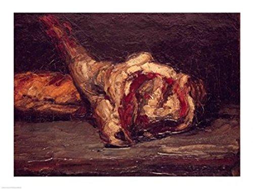 Paul Cezanne – Stillleben eines Hammelkeule und Brot 1865 Kunstdruck (60,96 x 45,72 cm)