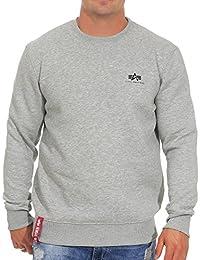 Alpha Industries Herren Pullover Basic Small Logo