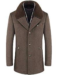 uomo cappotto con bavero in pelliccia