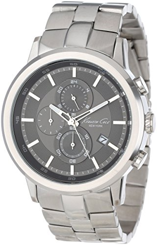 Kenneth Cole Men's KC9225 Silver Stainless-Steel Quartz Watch with Grey Dial (Certified Refurbished)