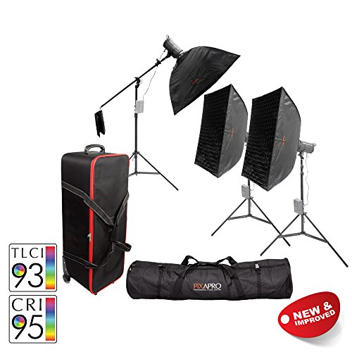 PIXAPRO® LED100D MKII+ Three Head Boom Kit With Softbox, Carry and Roller Case Daylight LED Continuous Studio Video Interview Film Light Bowens S-Type Fit Remote Dimmable Video Continuous Constant Light Green Screen Film Marketing Movie Lighting Still Life Portrait (Improved Colour) CRI>94 *2 Year UK Warranty *Fast Delivery *UK Stock *VAT Registered … (Three Head Boom Kit, With Softbox, Carry and Roller Case)&#8221; /></a> </a></center></p> <p><center>* <span style=