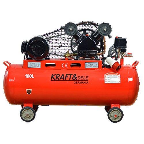 Compresor kraft germany cinghiato trifásico 380 V 4,1 kw 100l-peso: 95 kg.