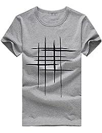 Yvelands Liquidación Súper Moda Personalidad O-Cuello de Línea de Impresión  de la Camiseta Tops Delgado Deportes de Manga Corta de… 176d3042dcb