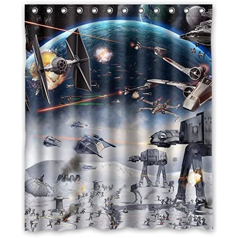 YOUZHENG Generic Star Wars Shower Curtain 60-Inch By 72-Inch