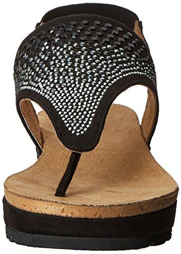 White Mountain Safari Femmes Toile Sandale Black