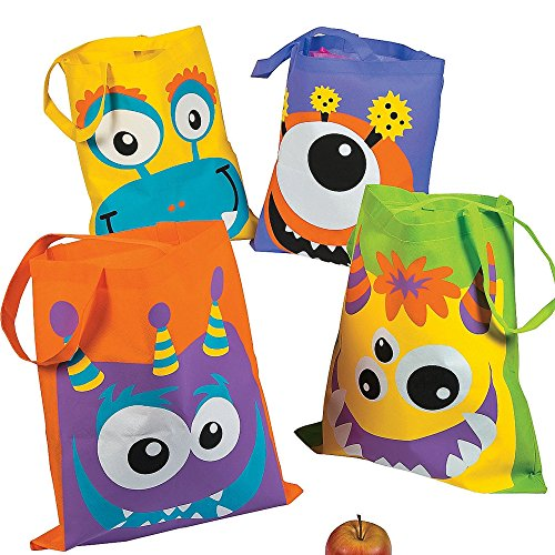 Monster Monsterparty Kinder Tasche Beutel Halloween Gruselparty Geburtstag Give Away Kindergeburtstag ()