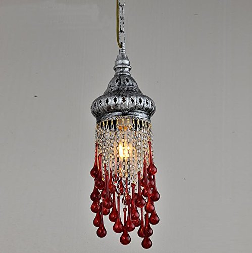 Suspensions Lustre à barres créatives, lampes à café à tête unique, éclairage au rétro balnéo du sud-est asiatique, feux de la barre méditerranéenne, 30w