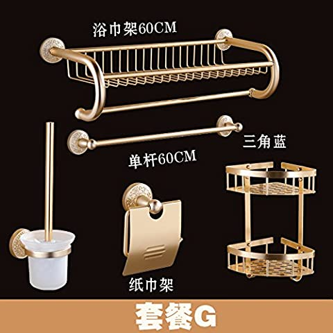 HOOM—European antique Towel rack Towel rack bathroom hardware accessories set