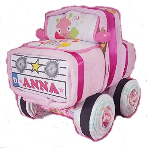 Windel-Auto in Rosa