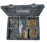 Fitschenring-Sortiment Stahl vermessingt und blau verzinkt 150 Teile 10,2/11,2/12,2
