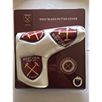 NEW WEST HAM UNITED FC BLADE STYLE PUTTER COVER WITH MAGNETIC GOLF BALL MARKER