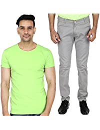 Stallion Men's Casual T-Shirt And Trouser Combo By Be You (Grey)