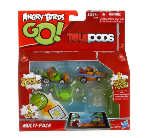 Angry Birds Go! - Telepods - A6181 - Multi-Pack - 2 Karts Exclusifs - Modèle Aléatoire