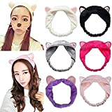 #10: Skudgear Cat Ears Hair Bands Cute and Plushy For Women Wash Face Makeup Running Sport Random Color(01 Unit)