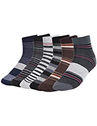 CREATURE Men's Ankle Length Formal/Casual Socks (Multicolour; Free Size, SCS-2701) -6 Pairs