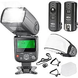Neewer NW-670 TTL Flash Speedlite Doté de LCD pour Canon DSLR Appareil Photo, avec (1)NW-670 Flash,(1)2.4Ghz Déclencheur Sans Fil, (1)Diffuseur Souple/Dur