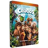 Les Croods - Combo Blu-ray 3D + Blu-ray + DVD - Boîtier métal