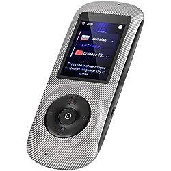 Dispositivo de Traducción de Voz y Texto en Múltiples Idiomas Inteligente en Tiempo Real WiFi + Hotpot Soporte de Intérprete de Bolsillo de 52 Idiomas con HD Pantalla Táctil de 2.4 pulgadas (Raya)